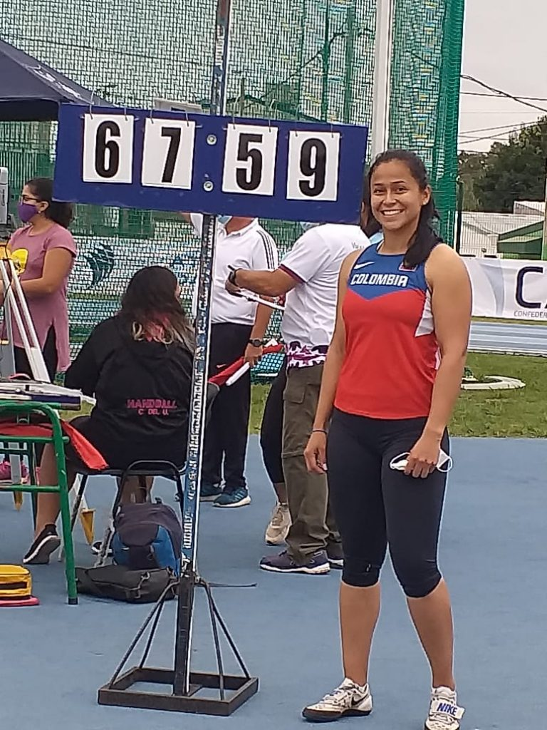 Mayra Gaviria se lució en martillo, en la apertura del GPS Reinaldo Gorno 24