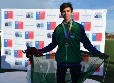 Oro para Lautaro Mantello en los Juegos de la Araucania 1