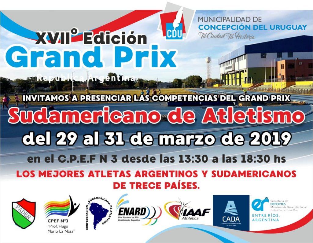 Invitación Grand Prix Sudamericanos de atletismo 2019 1