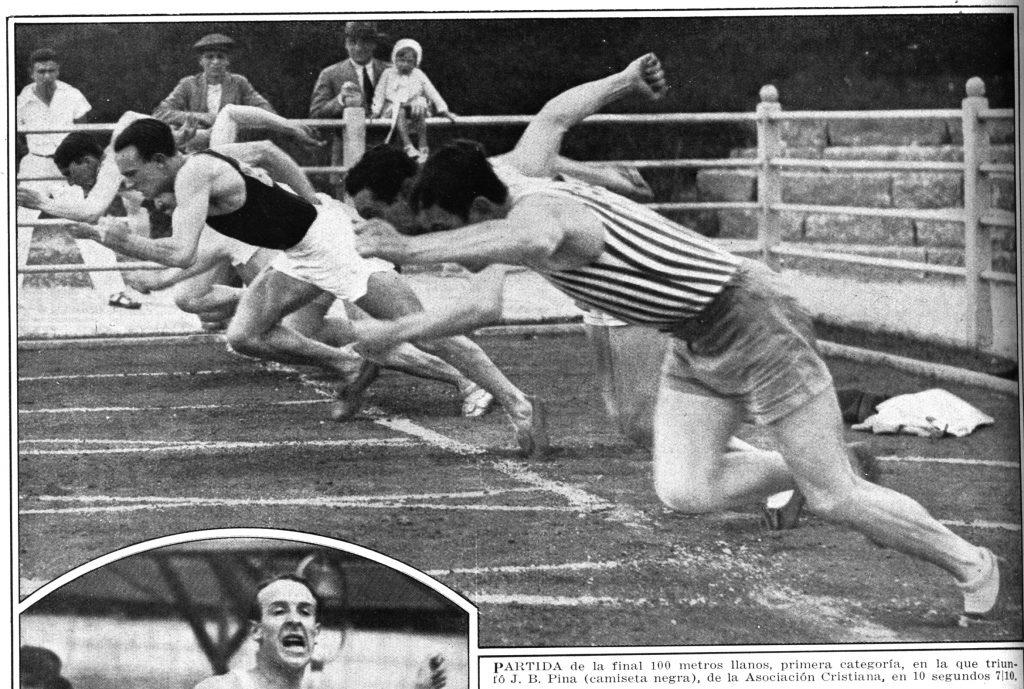 Juan Pina, un argentino en la semifinal olímpica de los 100 metros 6