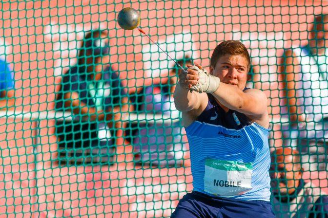 Julio Nóbile terminó 8° en martillo 1