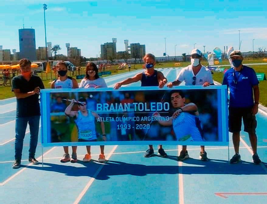 homenaje a braian en el parque olímpico 2021