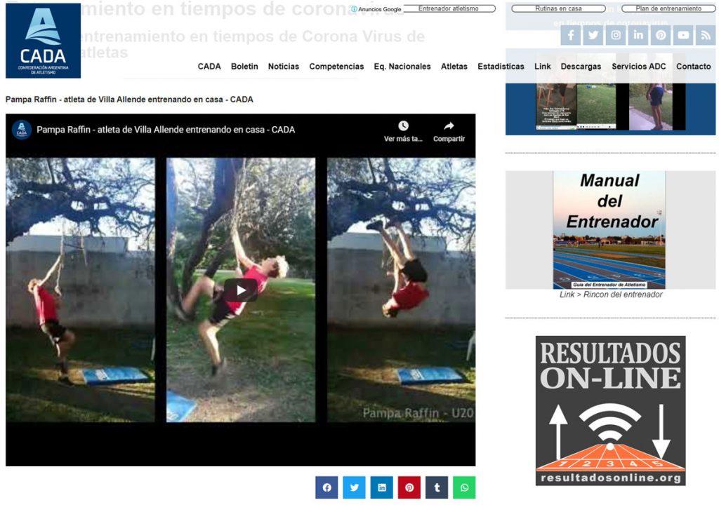 los atletas siguen entrenando en casa y envian sus videos a la CADA